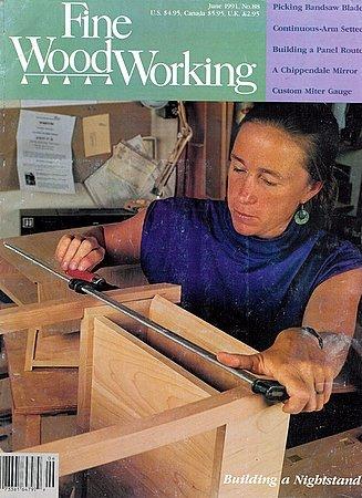 Fine Woodworking Magazine No. 88 June 1991 Panel Router Roycroft Furniture