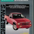 Chilton's Repair Manual GM Chevrolet S10 GMC S15 Pick-ups 1982 - 1994