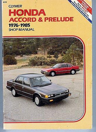 Clymer Honda Accord & Prelude 1976-1985 Shop Manual Repair Service