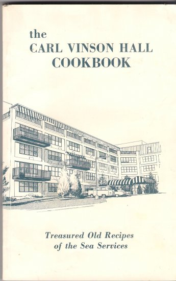 Carl Vinson Hall Cookbook Naval Officers Wives Club
