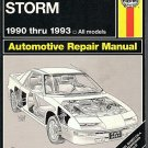 Haynes Automotive Repair Manual Geo Storm 1990 thru 1993 All Models