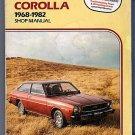 Clymer Toyota Corolla 1968 thru 1982 Automotive Repair Shop Manual Guide