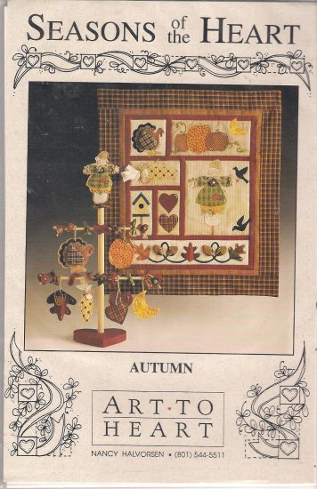 Autumn Quilted Wallhanging Tree Ornaments Quilt Pattern Seasons of the Heart Nancy Halvorsen