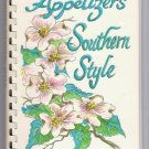 Appetizers Southern Style Cookbook Junior League of Greensboro NC Party Planning Menus