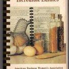 ABWA Mermaid Chapter St. Petersburg Florida Cookbook Incredible Edibles