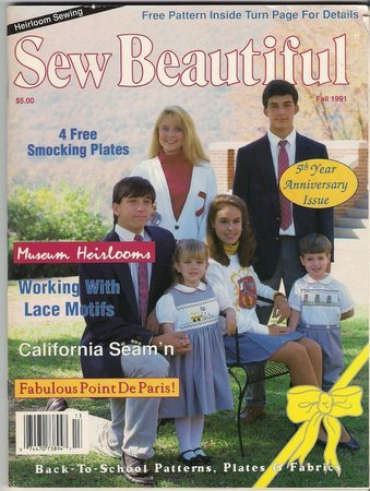 Sew Beautiful Magazine Fall 1991 Working with Lace Motifs Katrina Paper Doll Collar Variations