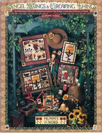 Quilting Book Angel Wings and Growing Things Debbie Mumm Applique Bags Wallhanging Quilt