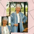 Womens Sewing Pattern Shawl Collar Jacket Silk Ribbon Embroidery Cutwork Patchwork Collar Uncut