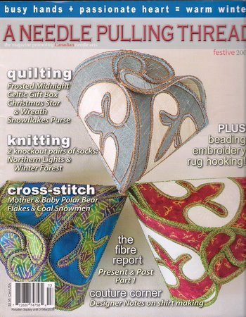 A Needle Pulling Thread Magazine Festive 2008 Knitting Socks Cross Stitch Beading Rug Hooking