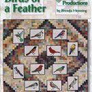 Birds of a Feather Stained Glass Applique Quilt Quilting Book Brenda Henning