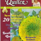 American Quilter Magazine January 2009 Leather Quilts Longarm Couture Trapunto Back-basting Applique