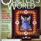 Quilter's World December 2008 20 Plus Festive Quilted Christmas Projects Holiday Quilting