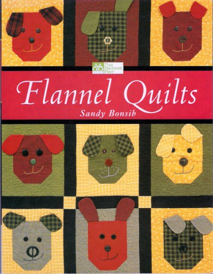 Flannel Quilts Quilting Book Sandy Bonsib 17 Projects in Patchwork Hand Applique