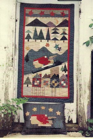 Country Threads 168 Santa Express Christmas Quilting Pattern for Wallhanging Pillow