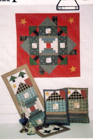 Country Threads 169 Courthouse Square Quilting Pattern for Wallhanging Runner Pillows