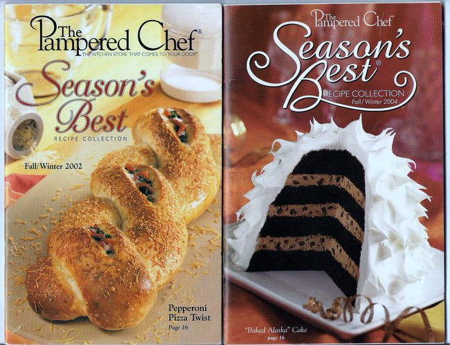 Pampered Chef Season's Best Lot of 2 Recipe Booklets Fall Winter 2002 and 2004