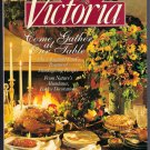 Victoria Magazine November 1993 New England Thanksgiving Recipes Monogramming Needlepoint Studies