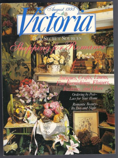 Victoria Magazine August 1993 Shopping Lace By Post Archivia Bookshop Frock Coats Salad Greens