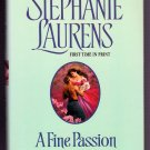 A Fine Passion Stephanie Laurens BCE Hardcover Bastion Club Regency Romance