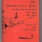 100 Most Honorable Chinese Recipes Cookbook Cookery Canton Shanghai Peking Yang Chow Szechuan