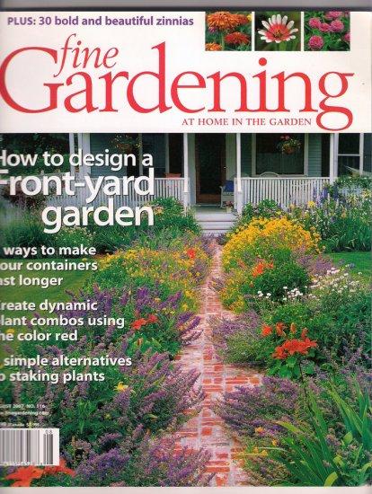 Fine Gardening August 2007 Front Yard Gardens Zinnias Staking Alternatives Container Gardening