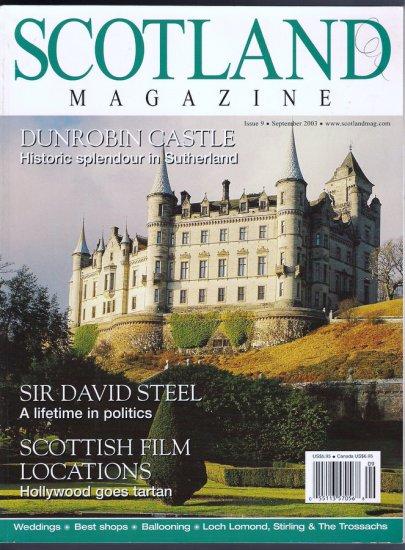 Scotland Magazine Back Issue 9 September 2003 Castles - Scotland by Hot Air Balloon - Weddings