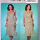 Butterick Sewing Pattern B4126 David Warren Spaghetti Strap Dress Fitted Jacket Size 18 20 22 Uncut