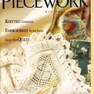 Piecework Magazine Knitting Cotton Coverlets English Stumpwork Finger Weaving Sashes Sock-Top Quilts