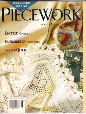 Piecework Magazine Knitting Cotton Coverlets English Stumpwork Finger Weaving Sashes Sock-Top Quilts