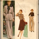 Vintage 1970s Christian Dior Vogue Paris Original Sewing Pattern 1133 Size 14 Misses Wardrobe Uncut