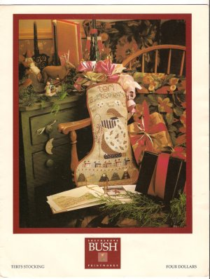 Teri's Stocking Christmas Cross Stitch Pattern Chart Leaflet Shepherd's Bush