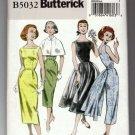 Butterick 5032 Sewing Pattern Retro 1952 Dress Wiggle Full Overskirt Option Uncut Size 6 8 10 12