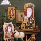 Sampler Santa Cross Stitch Pattern Chart Leaflet Christmas Homespun Elegance