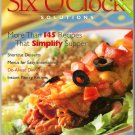 Weight Watchers Six O'Clock Solutions More than 145 Recipes Easy Shortcut Desserts POINTS