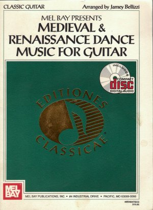 Mel Bay Medieval & Renaissance Dance Music for Guitar Instruction Book with CD