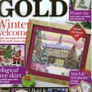 Cross Stitch Gold Magazine Issue 25 Snowy Cottage Christmas Tree Skirt Art Deco Cushion