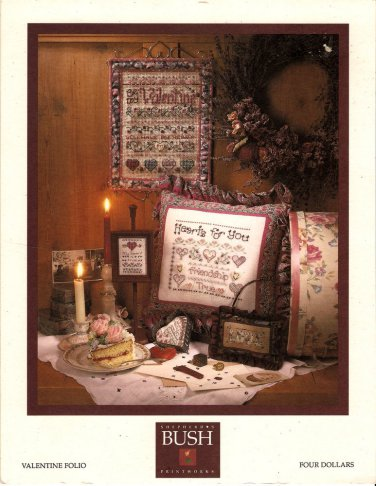 Valentine Folio Cross Stitch Chart Pattern Shepherd's Bush Hearts