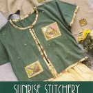 Indygo Junction Sunrise Stitchery Sewing Pattern T Shirt to Cardigan Crazy Quilt Embellishment