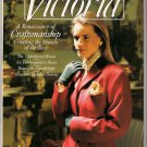 November 1989 Victoria Magazine Back Issue Abraham Lincoln Home Crewel Embroidery Holiday Recipes