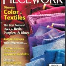 Piecework Magazine 2011 Natural Dyes Belarusian Wrist Warmers Japanese Sashiko Berlinwork