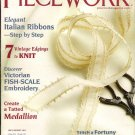 Piecework Magazine 2011 Fortuny Ribbon Rose 7 Vintage Edgings Victorian Fish-Scale Embroidery