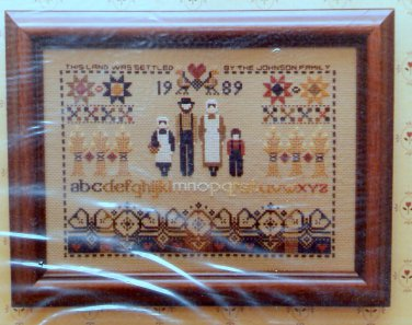 Told in a Garden Settlers Sampler Cross Stitch Pattern Chart