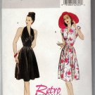 Butterick B5209 Sewing Pattern Easy Retro Glam Halter  or Cap Sleeve Dress Sizes 6 8 10 12 Uncut