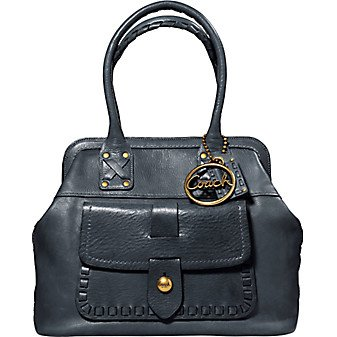 Authentic Coach Legacy Thompson Top Handle Handbag #11373 Ink
