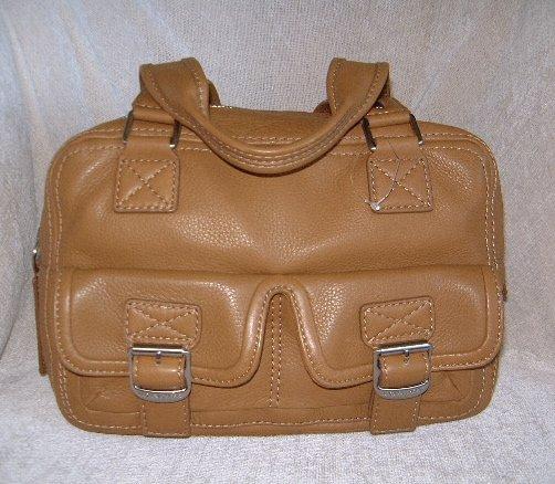 Authentic Michael Kors Brown Leather Ranger Satchel Handbag Purse Style #35H71RGS2L