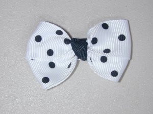"2"" baby bow - black & white"