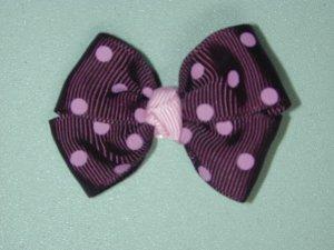 "2"" baby bow - raisin & pink"