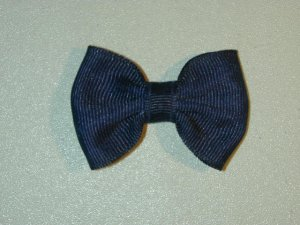 "2"" baby bow - navy blue"
