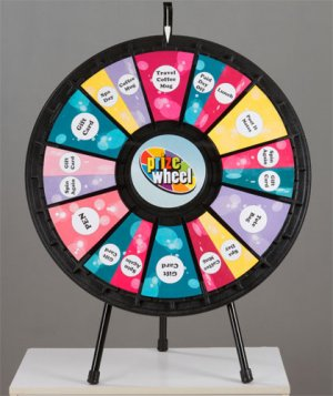 12 to 24-Slot Tabletop Prize Wheel