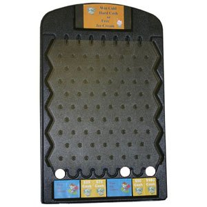 Black Plinko Game with Three Pucks